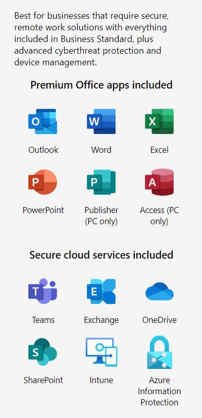 Microsoft 365 – Business Premium